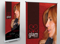 Stampa e Graphic Design di espositore Roll Up Glam Ventidue